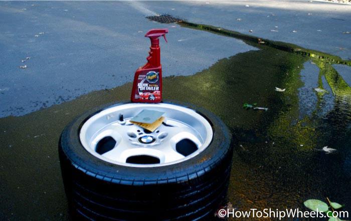 detailing car wheels