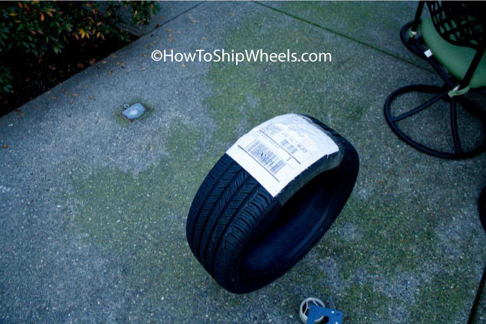 shipping tire without rim