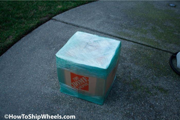 lay medium size box out flat, cut in half
