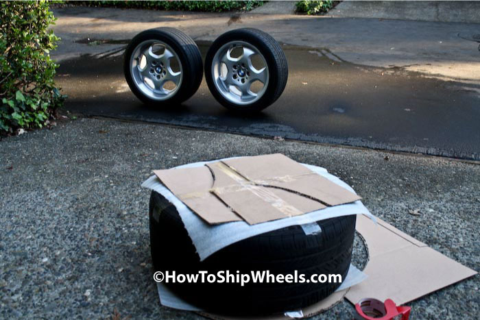 Step 6 Shipping Wheels with Tires